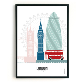 Poster London in kleur