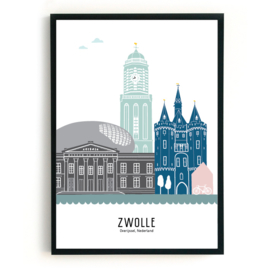 Poster Zwolle in kleur