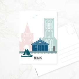 Ansichtkaart Elburg - kleur