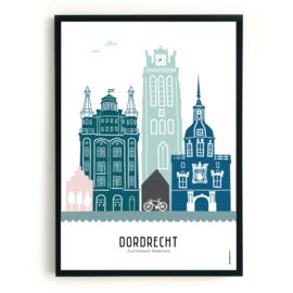 Poster Dordrecht in kleur