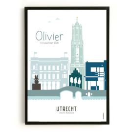 Geboorteposter Utrecht - Olivier