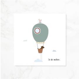 Wenskaart teckel Frits - In de wolken...
