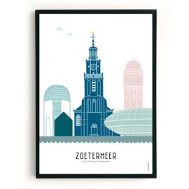 Poster Zoetermeer in kleur
