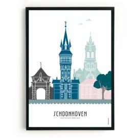 Poster Schoonhoven in kleur