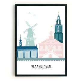 Poster Vlaardingen in kleur
