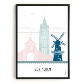 Poster Gorinchem  in kleur