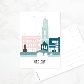 Ansichtkaart Utrecht in kleur