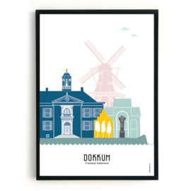 Poster Dokkum in kleur