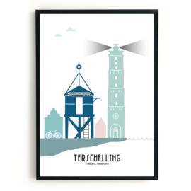 Terschelling | 50x70 cm Poster  - kleur SALE