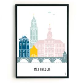 Poster Maastricht custom - Mestreech in kleur