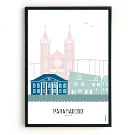 Poster Paramaribo in kleur