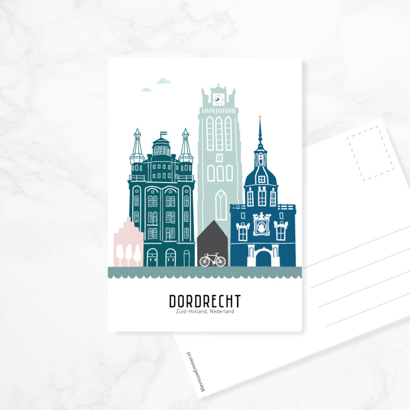 Ansichtkaart Dordrecht - kleur