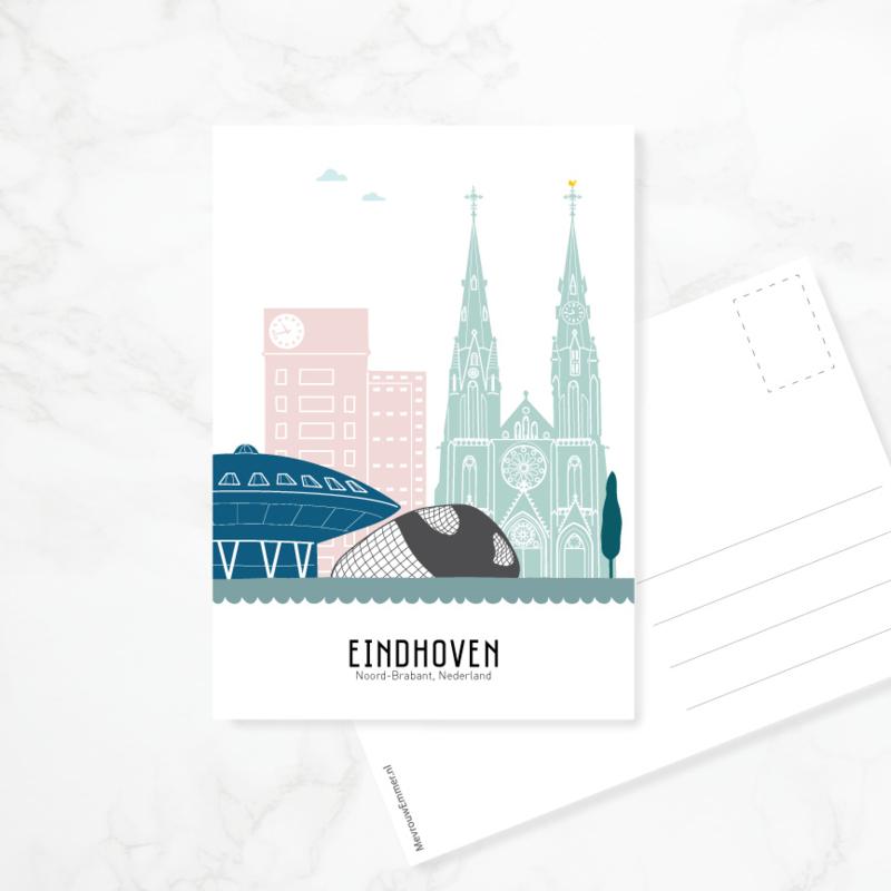 Ansichtkaart Eindhoven - kleur