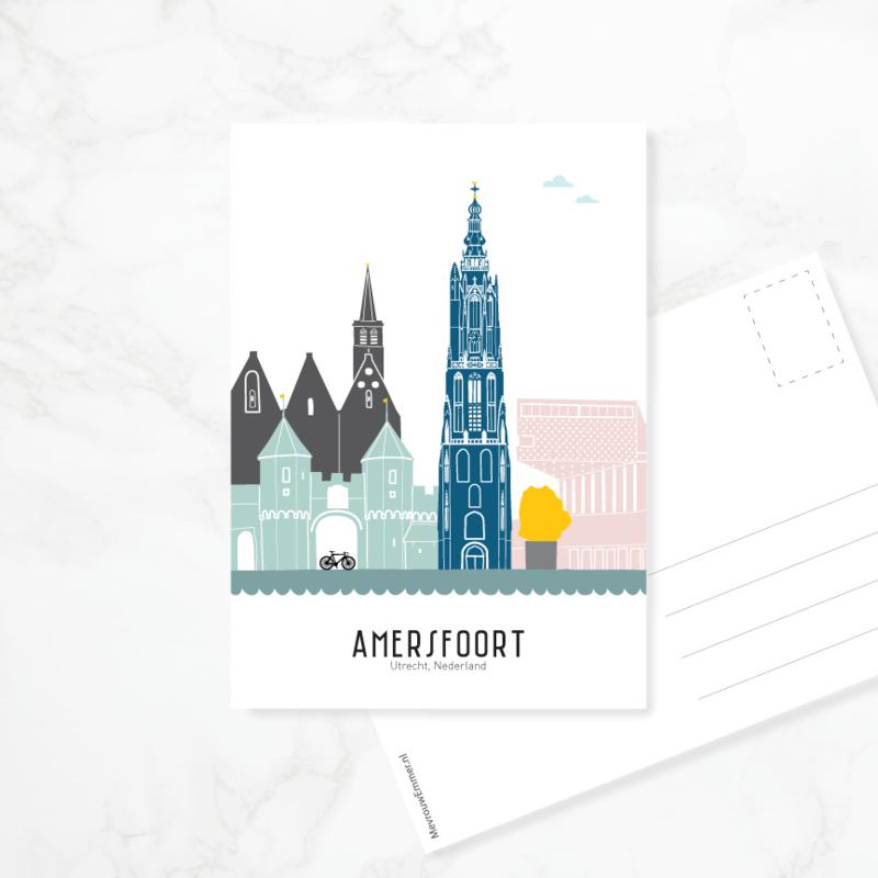 Ansichtkaart Amersfoort - kleur