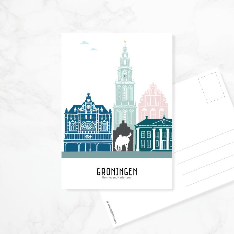 Ansichtkaart Groningen - kleur