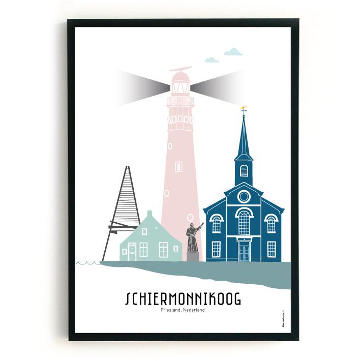 Schiermonnikoog | A3 Poster  - kleur SALE