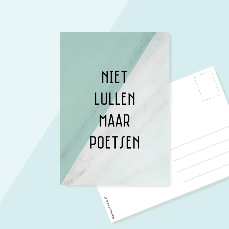 Ansichtkaart Volksmond | Rotterdam | Niet lullen