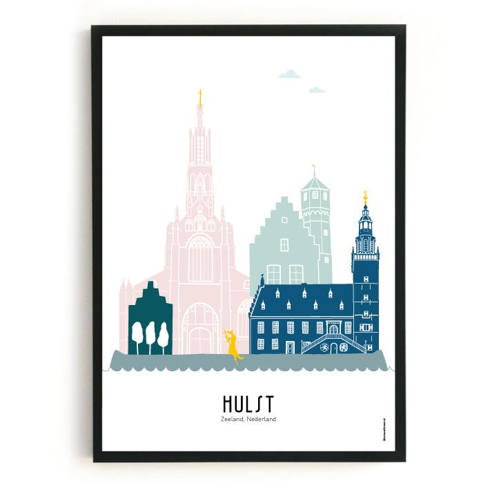 Poster Hulst in kleur