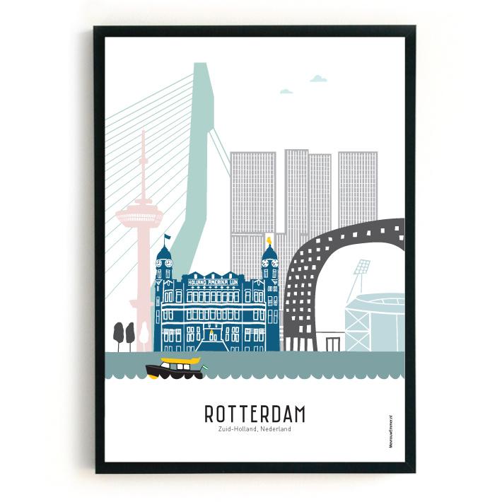 Poster Rotterdam in kleur - Kuip