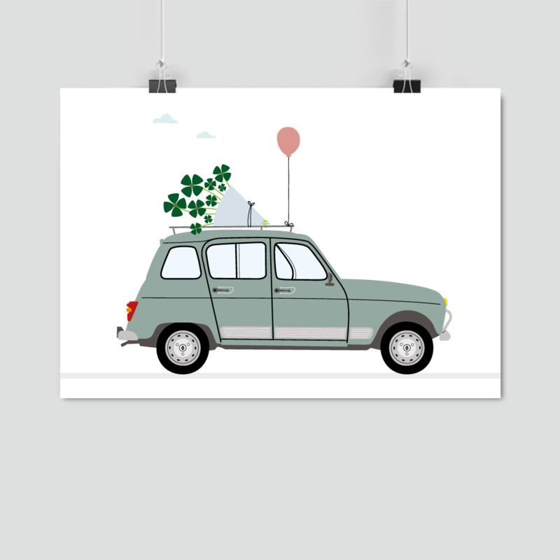 A5 kaart - Renault 4, bosje geluk