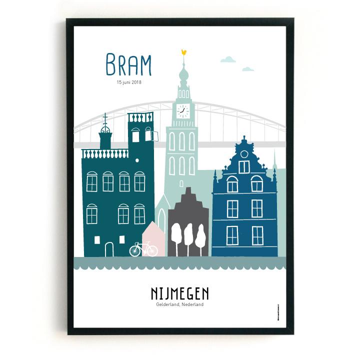 Geboorteposter Nijmegen-Bram