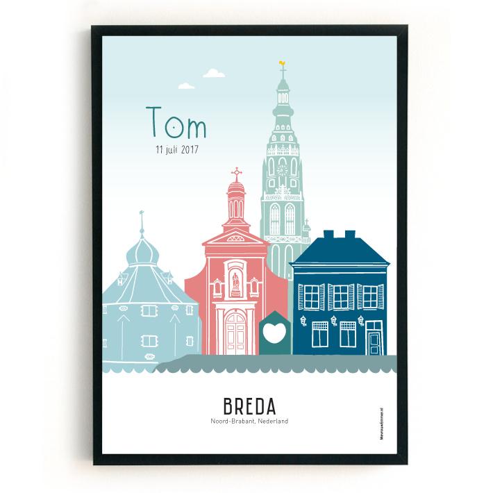 Geboorteposter Breda - Tom