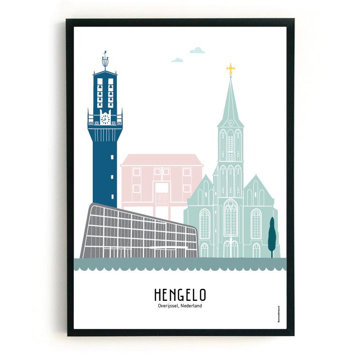 Hengelo | A3 Poster - kleur SALE