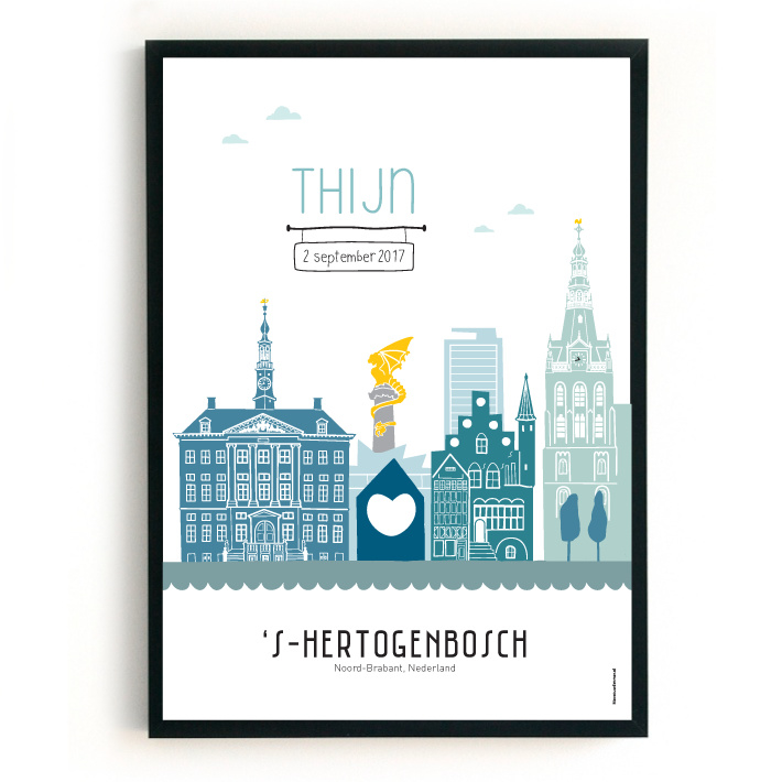 Geboorteposter Den Bosch - Thijn
