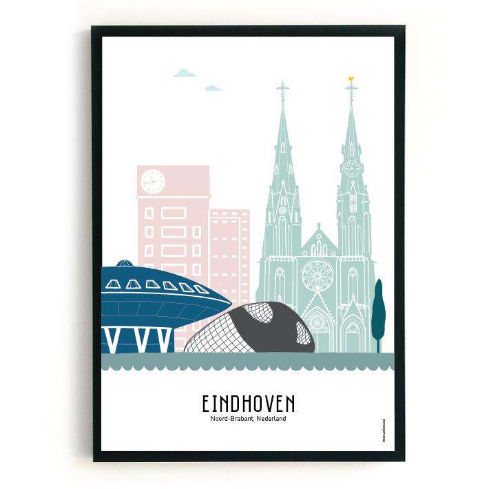 Poster Eindhoven in kleur