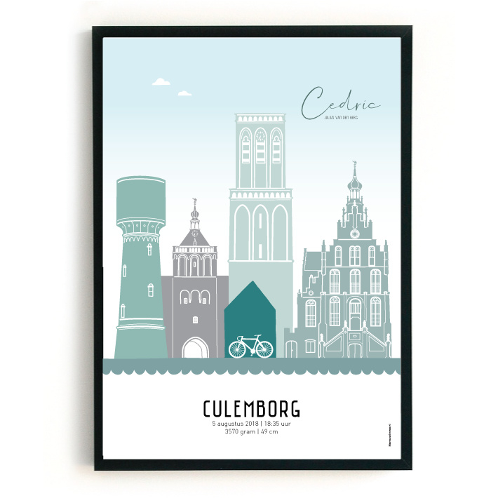 Geboorteposter Culemborg - Cedric