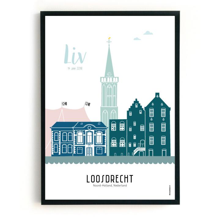 Geboorteposter Loosdrecht - Liv