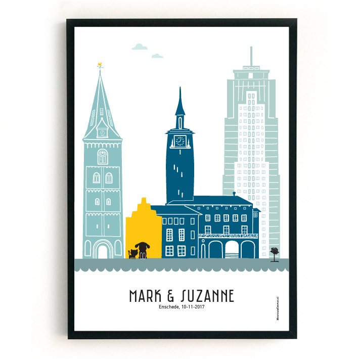 Trouwposter Enschede