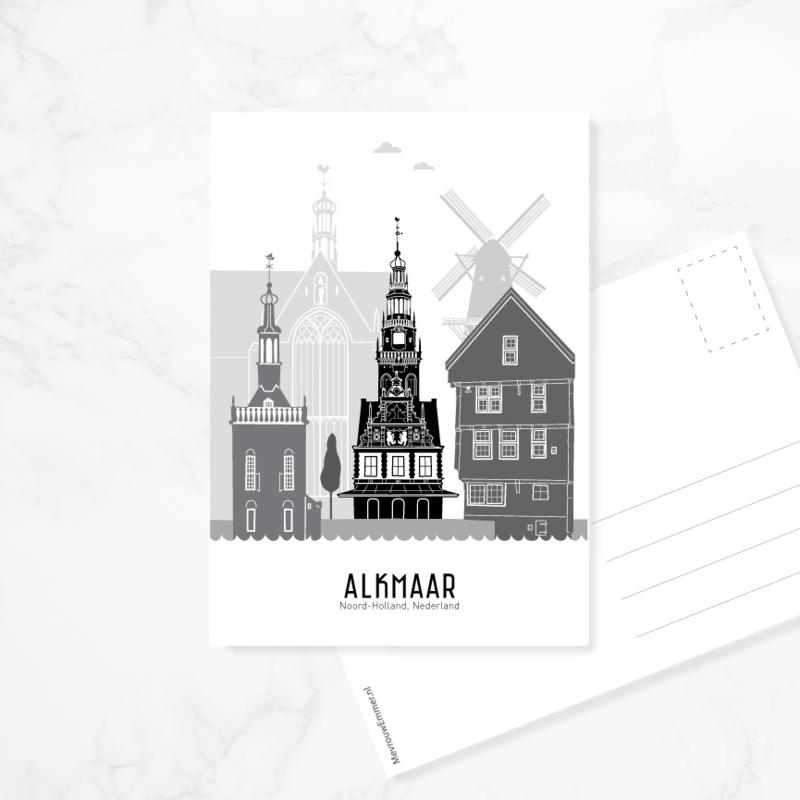Ansichtkaart Alkmaar