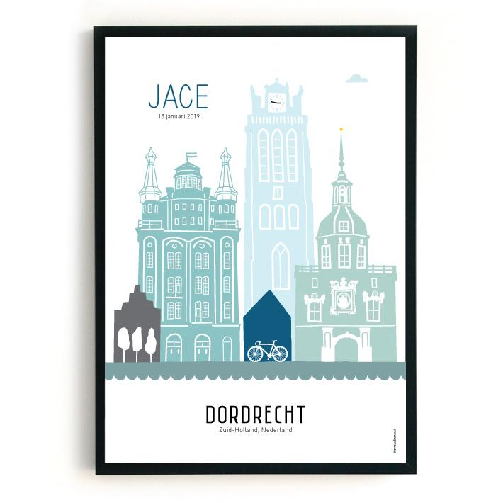 Geboorteposter Dordrecht - Jace