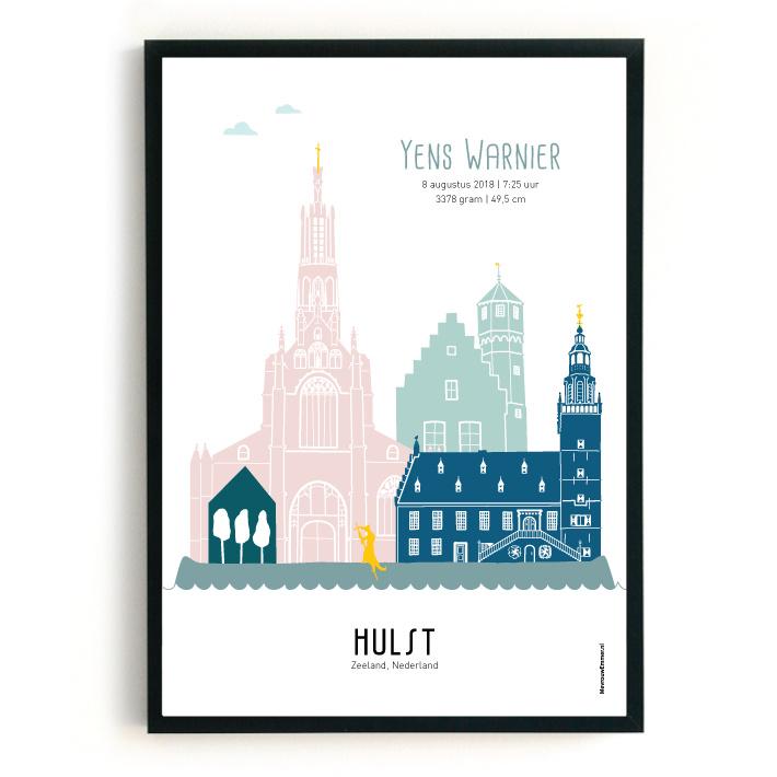 Geboorteposter Hulst - Yens