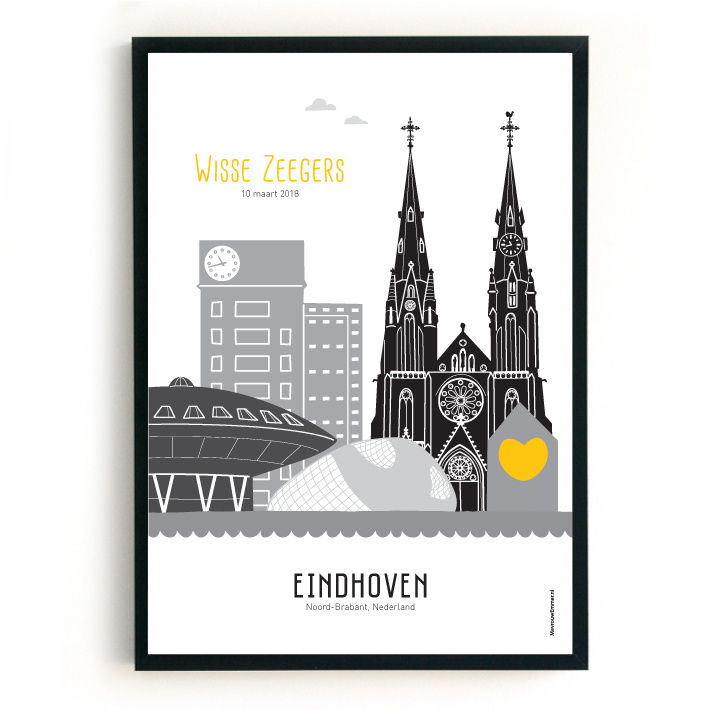 Geboorteposter Eindhoven - Wisse