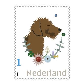 Postzegel 1 : 'Teckel'