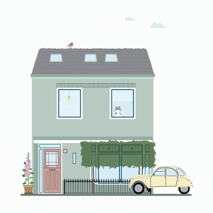 Ontwerpkosten Huisportret Bunschoten