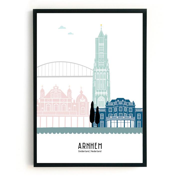 Poster Arnhem  in kleur