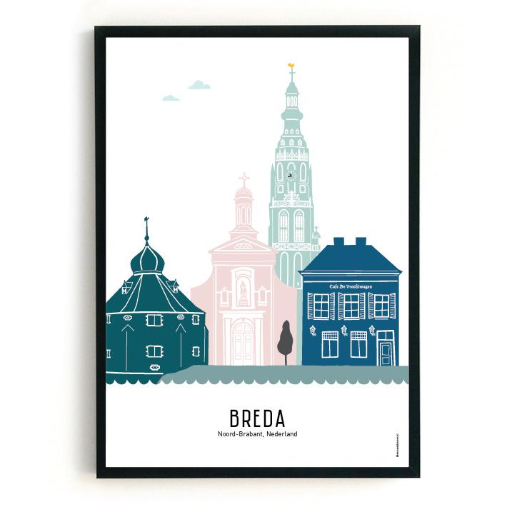 Poster Breda in kleur