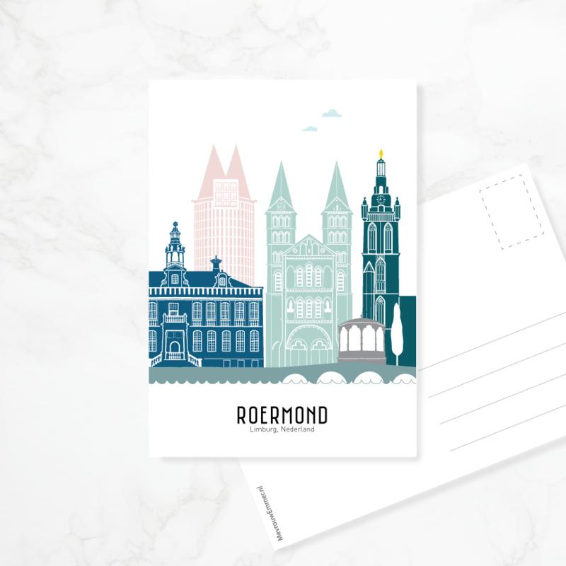 Ansichtkaart Roermond - kleur