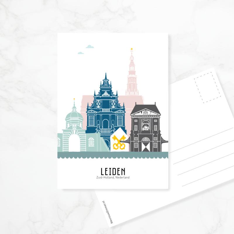 Ansichtkaart Leiden - kleur
