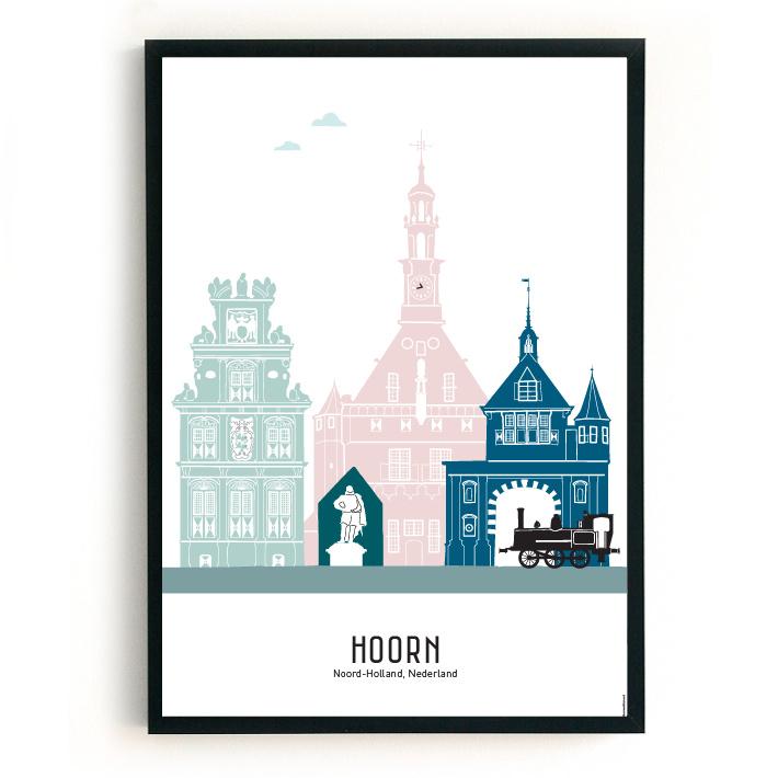Poster Hoorn in kleur