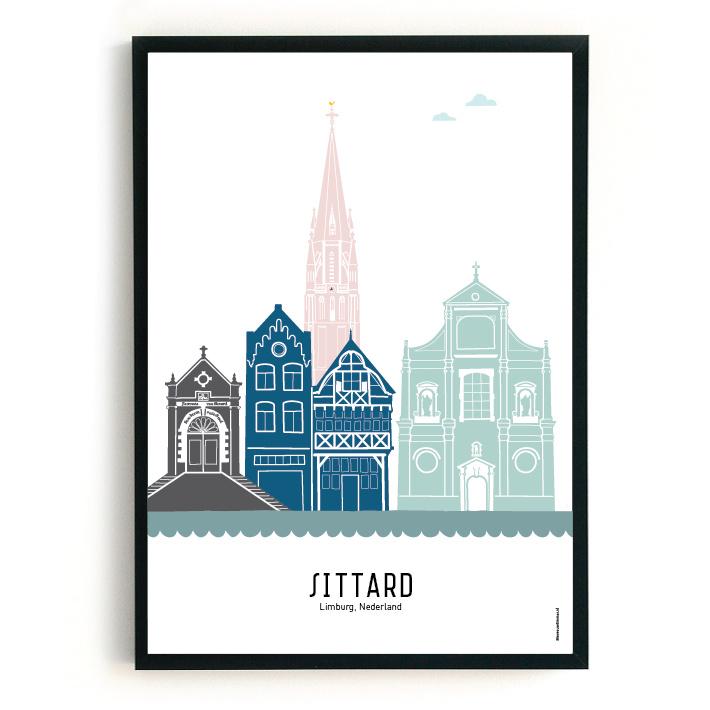 Poster Sittard in kleur