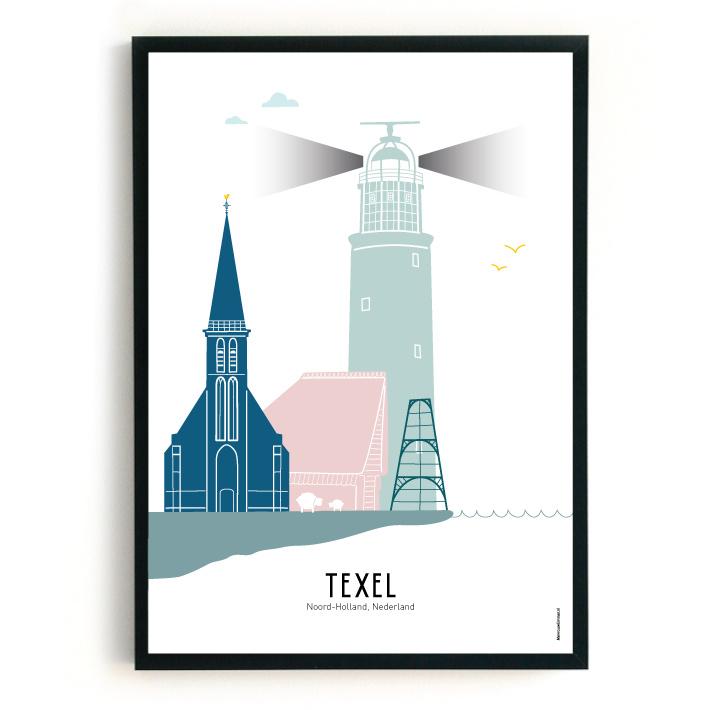 Poster Texel in kleur