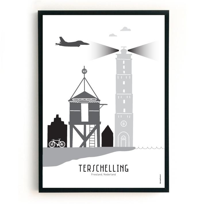 Poster Terschelling - custom F16