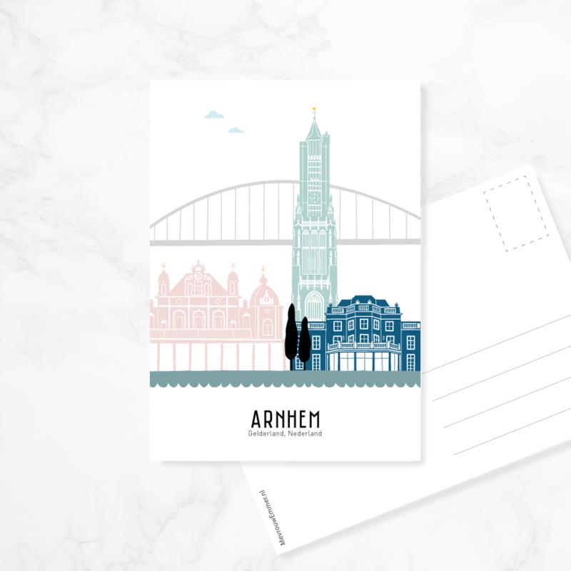 Ansichtkaart Arnhem - kleur