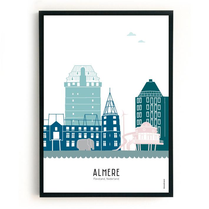 Poster Almere in kleur