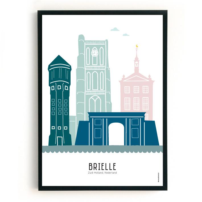 Poster Brielle in kleur