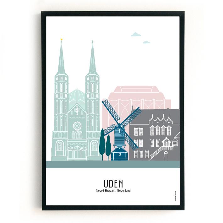 Poster Uden in kleur